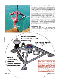 Marine Technology Magazine, page 44,  Sep 2016