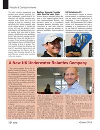 Marine Technology Magazine, page 10,  Oct 2016