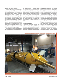 Marine Technology Magazine, page 36,  Oct 2016