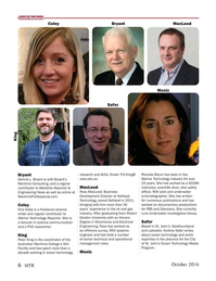 Marine Technology Magazine, page 6,  Oct 2016