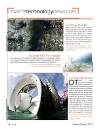 Marine Technology Magazine, page 8,  Jan 2017