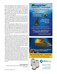 Marine Technology Magazine, page 27,  Jan 2017