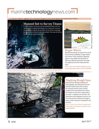 Marine Technology Magazine, page 8,  Apr 2017