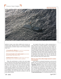 Marine Technology Magazine, page 14,  Apr 2017