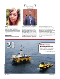 Marine Technology Magazine, page 6,  Apr 2017