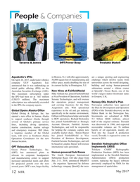 Marine Technology Magazine, page 12,  May 2017