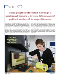 Marine Technology Magazine, page 24,  Jun 2017