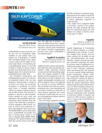 Marine Technology Magazine, page 52,  Jul 2017