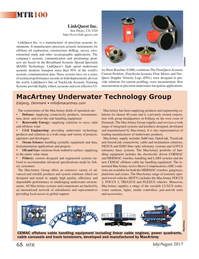 Marine Technology Magazine, page 68,  Jul 2017
