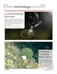Marine Technology Magazine, page 6,  Sep 2017