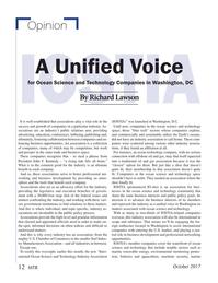 Marine Technology Magazine, page 12,  Oct 2017