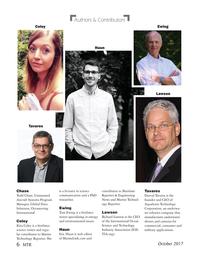 Marine Technology Magazine, page 6,  Oct 2017