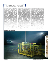 Marine Technology Magazine, page 20,  Nov 2017