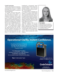Marine Technology Magazine, page 15,  Jan 2018
