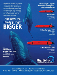 Marine Technology Magazine, page 4th Cover,  Jan 2018