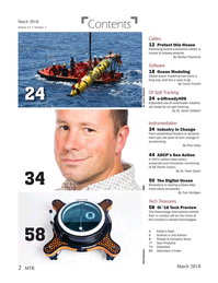 Marine Technology Magazine, page 2,  Mar 2018