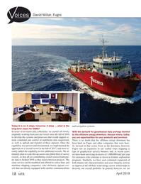 Marine Technology Magazine, page 18,  Apr 2018