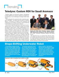 Marine Technology Magazine, page 8,  May 2018