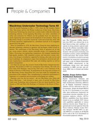 Marine Technology Magazine, page 60,  May 2018