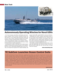 Marine Technology Magazine, page 56,  Jun 2018