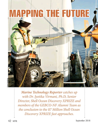 Marine Technology Magazine, page 42,  Sep 2018