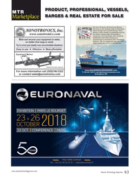 Marine Technology Magazine, page 63,  Sep 2018