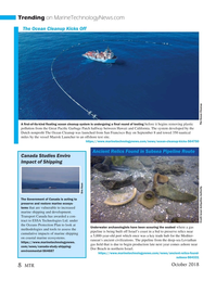 Marine Technology Magazine, page 8,  Oct 2018
