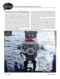 Marine Technology Magazine, page 12,  Oct 2018