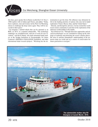 Marine Technology Magazine, page 20,  Oct 2018
