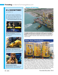 Marine Technology Magazine, page 8,  Nov 2018