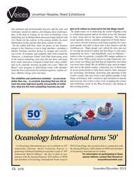 Marine Technology Magazine, page 16,  Nov 2018