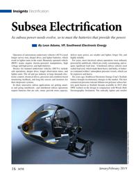 Marine Technology Magazine, page 16,  Jan 2019