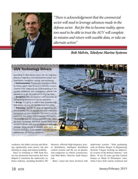 Marine Technology Magazine, page 38,  Jan 2019