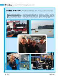 Marine Technology Magazine, page 8,  Apr 2019