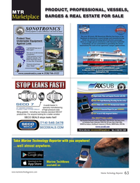 Marine Technology Magazine, page 63,  May 2019