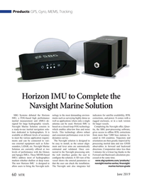 Marine Technology Magazine, page 60,  Jun 2019