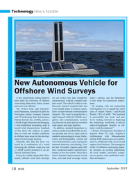 Marine Technology Magazine, page 10,  Sep 2019