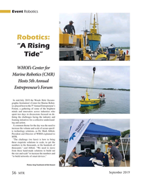 Marine Technology Magazine, page 56,  Sep 2019