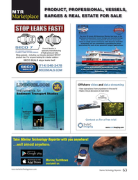 Marine Technology Magazine, page 63,  Sep 2019