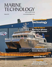Marine Technology Magazine Cover Oct 2019 - Ocean Observation: Gliders, Buoys & Sub-Surface Networks