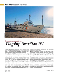 Marine Technology Magazine, page 58,  Oct 2019