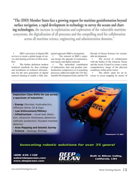 Marine Technology Magazine, page 15,  Nov 2019