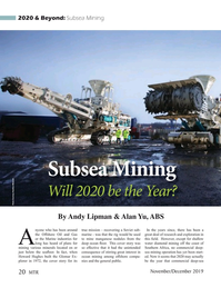 Marine Technology Magazine, page 20,  Nov 2019