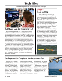 Marine Technology Magazine, page 8,  Jan 2020