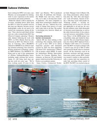 Marine Technology Magazine, page 32,  Jan 2020