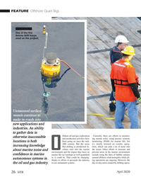 Marine Technology Magazine, page 26,  Apr 2020
