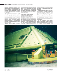 Marine Technology Magazine, page 32,  Apr 2020