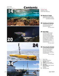 Marine Technology Magazine, page 2,  Apr 2020