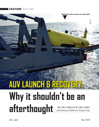 Marine Technology Magazine, page 26,  May 2020