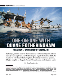 Marine Technology Magazine, page 40,  May 2020